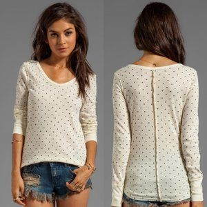 Free People We The Free Polka Dot Thermal Top